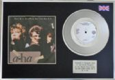 "A-HA -7"" Platinum Disc+  cover- SUN ALWAYS SHINES ON TV"